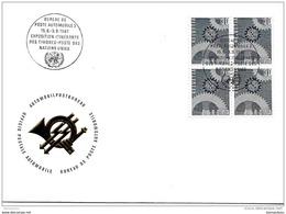 """89 - 15 - Enveloppe  Avec Oblit Spéciale """"Expo Itinérante Timbres-poste Nations Unies 1967"""" - Marcophilie"""