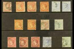 1867-93 FINE USED GROUP With 1867 1d No Wmk, 1873-79 1d X2 Shades, 1881 Wmk CC 1d, Plus 4d X2, 1882-85 Wmk CA 1d X2, 2½d - Turks And Caicos