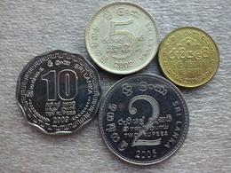 Sri Lanka   1 - 10  Rupees   2002-09 , Used Coins - Sri Lanka