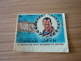 Space Espace NASA Astronaut Ed White Apollo Old Greek '70s Game Trading Sticker Card - Trading Cards