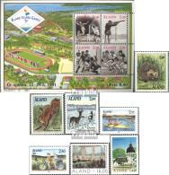 Finnland - Aland 44-54 (kompl.Ausg.) Jahrgang 1991 Komplett Postfrisch 1991 Sportspiele, Tiere, Kirche U.a. - Aland