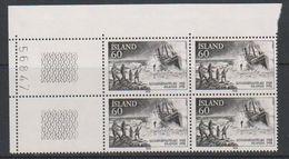 """Iceland 1978 Bergung Der Englischen Fischkutters """"Dhoon"""" 1v Bl Of 4 (corner) ** Mnh (39201E) - Nuevos"""