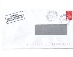 PETITS BUREAUX - OBLITERATION DE LAROCHE -SAINT CYDROINE GUICHET ANNEXE YONNE 2002 - Marcophilie (Lettres)