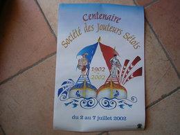 SETE - CENTENAIRE SOCIETE DES JOUTEURS SETOIS 1902-2002 DU 2 AU 7 JUILLET 2002   ( AFFICHE 33X48 ) CETTE - Sete (Cette)