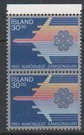 Iceland 1983 Weltkommunikationsjahr 1v (pair) ** Mnh (39201J) - 1944-... República