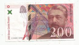 Billet , 200 , Deux Cents Francs , EIFFEL , 1997 , 2 Scans - 1992-2000 Last Series