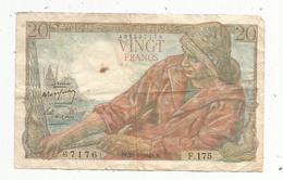Billet , 20, Vingt Francs , PÊCHEUR , 29-1-1948 , 2 Scans - 1871-1952 Circulated During XXth