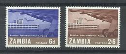 ZAMBIA  YVERT AEREO 32/33  MNH  ** - Zambia (1965-...)