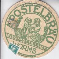 _ Allemagne Sous Bock De Biere Utilisé Comme Carte Postale .. Worms 07 1927 Pour Heidelberg .. RARE - Bières