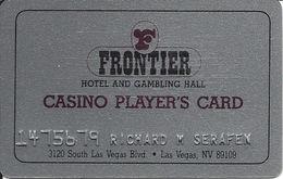 Frontier Casino - Las Vegas - Glittery Table Card / Slot Card - Casino Cards