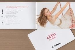 CC Carte Parfumée CHANEL COCO ROUGE 'LIPBLUSH' Perfume FLIPBOOK JAPAN - Perfume Cards