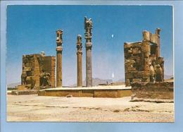 Iran Shiraz Perspolis Persépolis 2 Scans Cachet De L'Hoteltehranpalma Hotel Tehran Téhéran Palma - Iran