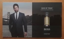 HUGO BOSS. POSTAL PUBLICITARIA CIRCULADA (SIN MUESTRAS DE PERFUME). - Perfume Cards