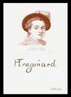 Timbre France Encart Fdc Sur Soie Tableau De Fragonard N° 1702 - 1970-1979