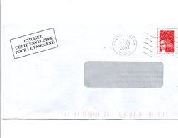 PETITS BUREAUX - OBLITERATION DE QUINCIEUX GUICHET ANNEXE 2003 - Marcofilia (sobres)