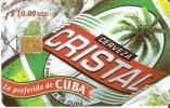 128  TARJETA DE CUBA DE LA CERVEZA CRISTAL (BEER) 1ª EMISION - Alimentación