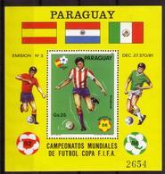 Soccer World Cup 1982 - PARAGUAY - S/S MNH** - Coupe Du Monde