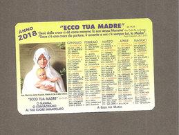 2018 CALENDARIO ECCO TUA MADRE CALENDARIETTO SANTINO - Devotion Images