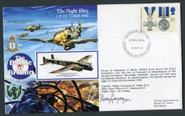 1990 GB 1940 Battle Of Britain, George Cross, BFPS 2490 RAF Swinderby SIGNED Flight Cover - 1952-.... (Elizabeth II)