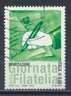 °°° ITALIA 2012 - GIORNATA DELLA FILATELIA °°° - 2011-...: Usati