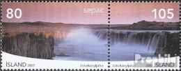 Island Mi.-Nr.: 1178-1179 Paar (kompl.Ausg.) Postfrisch 2007 Landschaften - 1944-... Republik