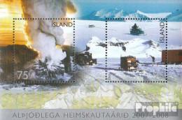 Island Mi.-Nr.: Block42 (kompl.Ausg.) Postfrisch 2007 Polarjahr - 1944-... Republik