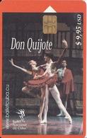 154  TARJETA DE CUBA DE EL DON QUIJOTE - Cuba