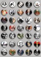 Johnny Hallyday Music Fan ART BADGE BUTTON PIN SET (1inch/25mm Diameter) 35 DIFF 1 - Music