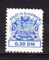 Gebuehrenmarke, Wappen Loewe, Stadt M Gladbach, 50 Pfg (53092) - Gebührenstempel, Impoststempel