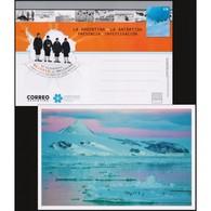 ANTARTIC/POSTAL STATIONARY, 2018 - ARGENTINE ANTARCTICA - PENGUINS - MAPS - Expéditions Antarctiques