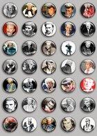 Johnny Hallyday Music Fan ART BADGE BUTTON PIN SET (1inch/25mm Diameter) 35 DIFF 2 - Music
