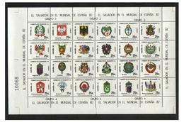 Soccer World Cup 1982 - EL SALVADOR - Sheet MNH** - Copa Mundial