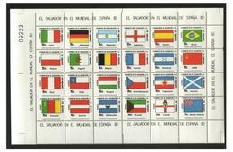 Soccer World Cup 1982 - EL SALVADOR - Sheet MNH** - Coupe Du Monde
