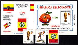 Soccer World Cup 1982 - ECUADOR - 2 S/S Imp.+Set MNH** - Copa Mundial