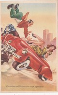 CPA Grivoise Collision Accident Voiture Véhicule Pin-up Sexy Mateur Cuisses Et + Illustrateur Style P. SEGUI N° 835/4 - 1900-1949