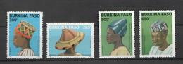 Burkina Faso 2005 Traditional Hats 4v Mnh - Burkina Faso (1984-...)