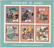 Republica De Guinea Nº Michel 1187 Al 1192 En Hoja - Summer 1992: Barcelona