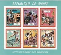 Republica De Guinea Nº Michel 1187B Al 1192B En Hoja Azul SIN DENTAR - Summer 1992: Barcelona