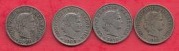 Suisse 4 Pièces De 10 Rappen Dans L 'état (1906  -1909-1911-1913) Lot N °22 - Switzerland