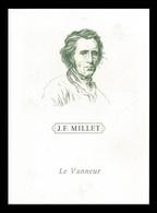 Timbre France Encart Fdc Sur Soie Tableau De Millet  N° 1672 - FDC