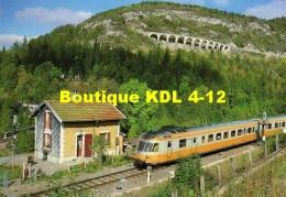 RU CT 03 - Autorail RGP X 2737 Au PN 36 Vers MOREZ - JURA - SNCF - Morez