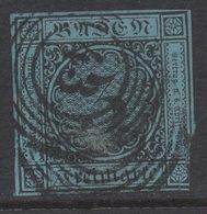 P508.-. BADEN- GERMANY. 1858. MI#: 8. 3K BLUE. CAT VAL: EUR 40. SHORT MARGINS - Bade