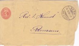 FAJA POSTAL STATIONERY USED OBLITERE  BERN 1897- BLEUP - Stamped Stationery