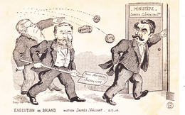 CPA Politique Caricature Satirique BRIAND / JAURES / VAILLANT Parti Socialiste Illustrateur KISNY - Satiriques