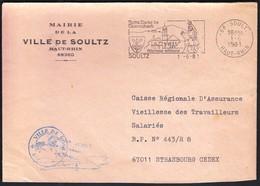 France Soultz 1981 / Mairie De La Ville De Soultz / Coat Of Arms / Church /  Pilgrimage Millennium / Machine Stamp - Postmark Collection (Covers)