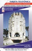 UR-014 TARJETA DE CUBA URMET DEL MAUSOLEO  $5 - Cuba
