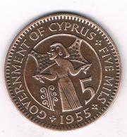 5 MILS 1955 CYPRUS /3505G/ - Cyprus