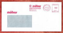 Brief, Francotyp-Postalia B10-1973, Moebus, 100 Pfg, Ludwigsburg 1989 (53113) - BRD