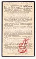 DP Rechter Notaris Omer Jean M. De Temmerman ° Leupegem 1860 † Oudenaarde 1933 X V. Magherman / Pamele - Devotion Images
