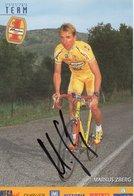 CYCLISME TOUR  DE  FRANCE  Autographe  MARKUS ZBERG - Cycling